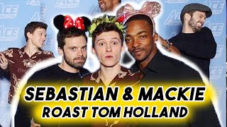 Tom Holland Getting Roasted by Anthony Mackie and Sebastian Stan | Spider-man Funny Moments