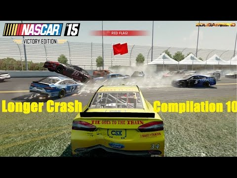 NASCAR '15 Victory Edition Best (Extreme) Longer Crash Compilation 10