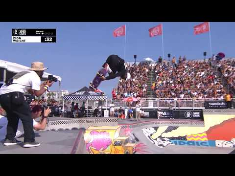 1st Place - Zion Wright (USA) 90.50 | Huntington Beach, USA | 2018 Men's Vans Park Series