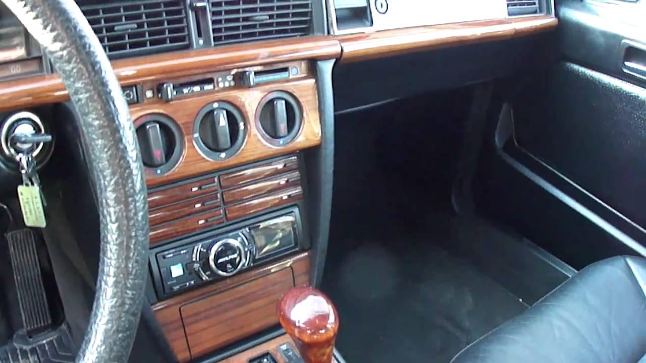mercedes 190 2 5 turbo diesel w201 x2 sportline violine et normal grise interieur cuir youtube. Black Bedroom Furniture Sets. Home Design Ideas