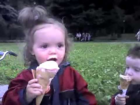 Little Kid Drops Ice Cream