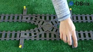 4DBrix Double Crossover for LEGO® Trains in Action - Kickstarter