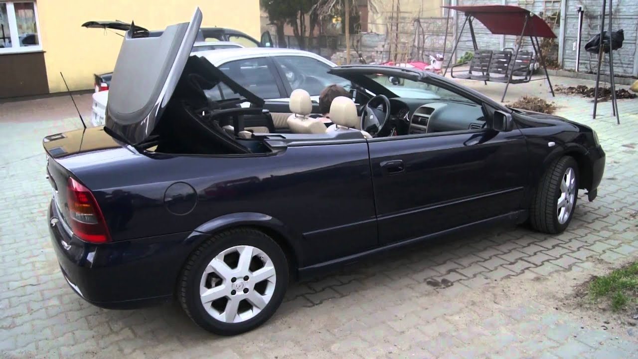 opel astra ii g bertone cabrio otwieranie dachu hd youtube. Black Bedroom Furniture Sets. Home Design Ideas