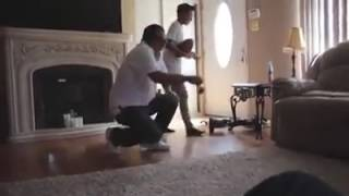 My Dad attempted to get on a hoverboard
