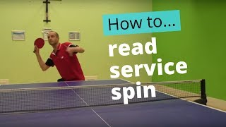 How to read service spin in table tennis
