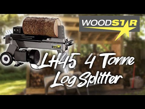 WOODSTAR LH45 LOG SPLITTER REVIEW AND DEMONSTRATION!