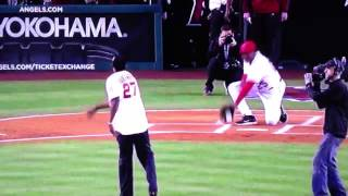 Vlad Guerrero takes out Don Baylor