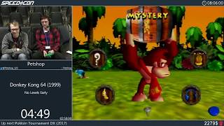 Donkey Kong 64 - No Levels Early by Petshop | SpeedCon 2019