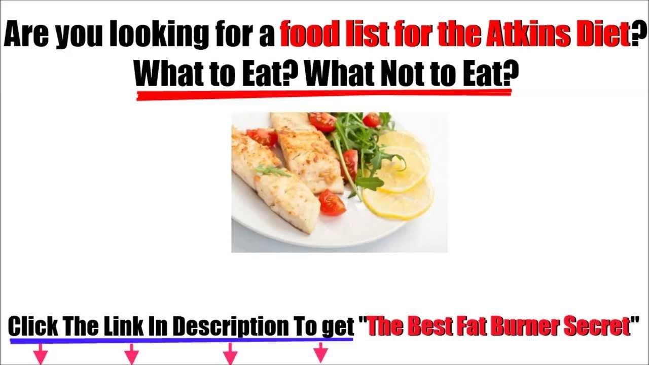 Cold Food List Atkins Diet Food List