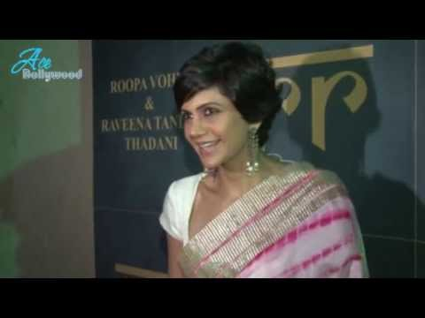 Mandira Bedi In Sexy Saree At Raveena Tandon's Jewellery Line Launch video