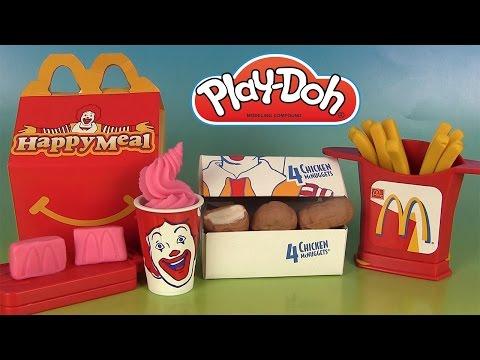 Play Doh McDonald's Chicken McNuggets Happy Meal Playshop Pâte à modeler Frites Sundae