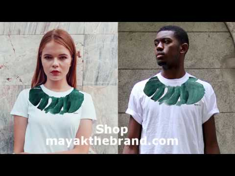 Exotic Monstera Leaf | MAYA K the making of our T-shirt design