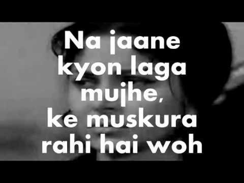 Woh Sham Kuch Ajeeb Thi-Karaoke & Lyrics-Khamoshi