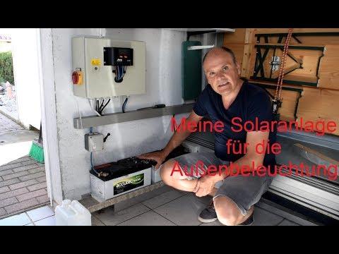Meine Solaranlage für die Außenbeleuchtung.