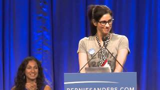 Sarah Silverman Introduces Bernie Sanders in LA