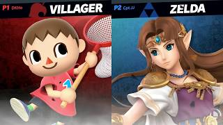 Super Smash Bros. Ultimate - Villager vs Zelda - HD Gameplay
