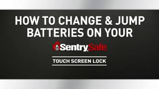 How to Change or Jump Batteries on Your Sentry®Safe Touch Screen Lock Fire Safe