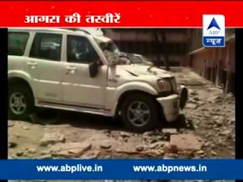 Earthquake in Nepal lead to heavy destruction in Agra