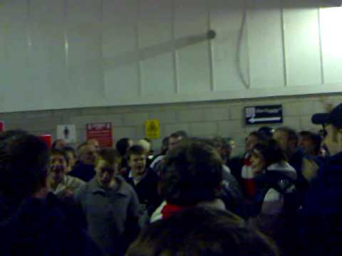 Arsenal fans at Stoke