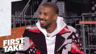 Michael B. Jordan talks New York Giants, workout routines and Creed II | First Take