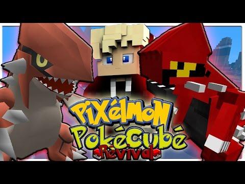 PIXELMON VS POKECUBE - Pokemon in Minecraft Mod Battle!