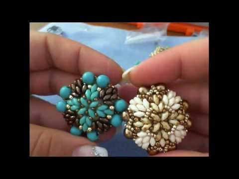 DIY tutorial anello Venere -  superduo e perle - ring