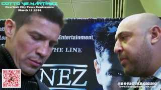 Cotto VS. Martinez - SERGIO MARTINEZ Press Conference, 1-on-1 Interviews and INTENSE Face-Off!
