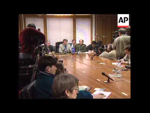 RUSSIA: NATIONALIST LEADER VLADIMIR ZHIRINOVSKY PRESS CONFERENCE