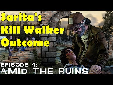 The Walking Dead Sarita Outcome Kill Walker Do not cut off the arm hand  Season 2 Episode 4 klip izle