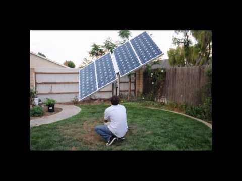Suntura Solar Tracker: Dual axis solar sun tracking unit