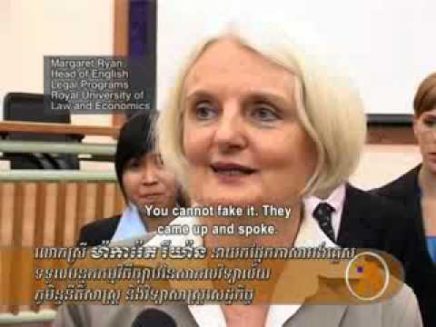 Cambodian Students Join Law Contest (English Subtitle)