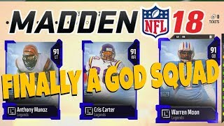 I FINALLY GOT ME A GOD SQUAD(NO $$$ SPENT)NOW EVERYONE QUITS! MADDEN 18 MUT ULTIMATE TEAM