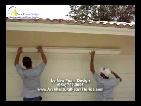 How To Install Trim >> How To Install Architectural Foam In Your House - YouTube