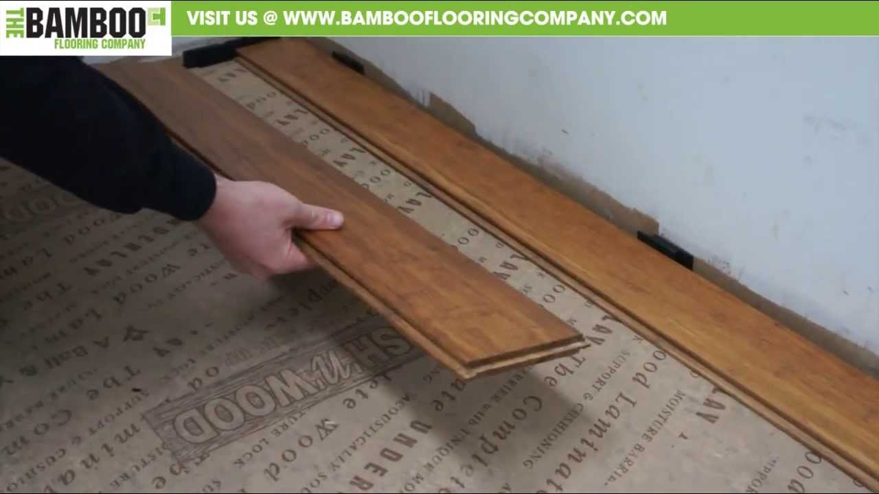 How to install uniclic bamboo flooring youtube for Installing bamboo flooring