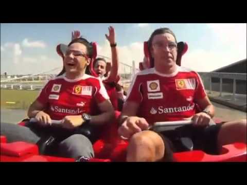 Alonso And  Massa in  FERRARI  WORLD