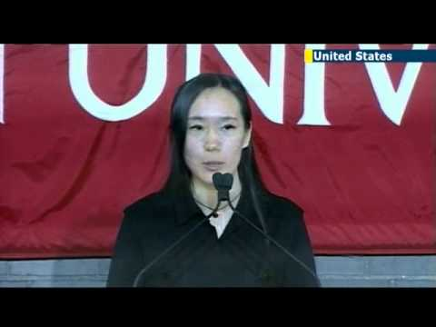 Boston University holds memorial service for Chinese marathon bombing victim Lu Lingzi