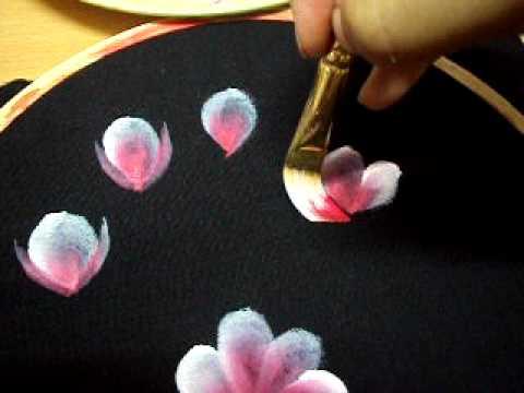 Fabric Painting Brush Strokes