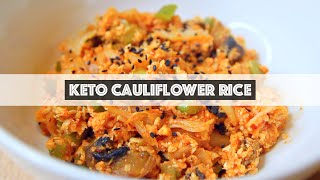 KETO VEGAN | Kimchi Fried Cauliflower Rice | Riced Cauliflower Recipe