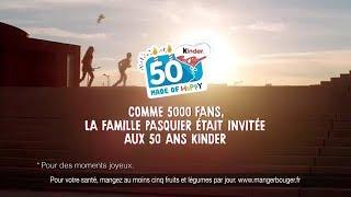 Musique pub KINDER 50 ans Les remerciements - PUB KINDER 50 ANS HAPPY
