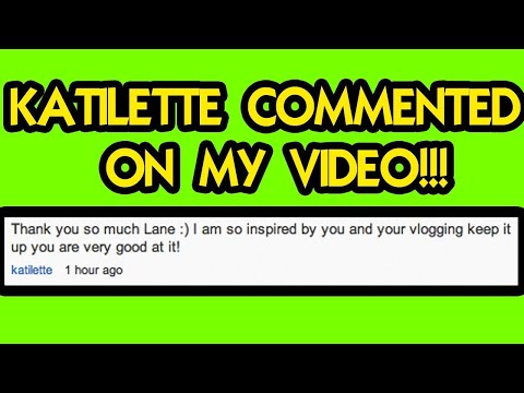 KATILETTE COMMENTS on My VIDEO!!!