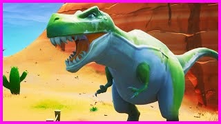 Fortnite Season 8 - Dance Between Statues, Dinosaurs, And Hotsprings Location Guide (Week 9 Challeng