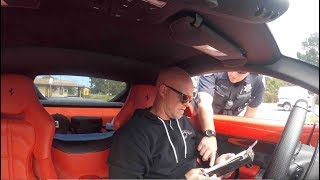 Monterey Police Pulls Over Ferrari F12 - Cop Says Youtubers Drive Recklessly For Views And Money