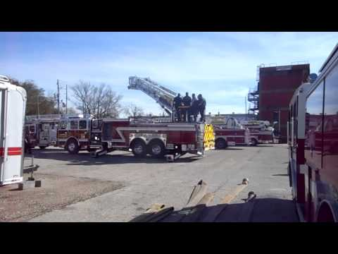 Firefighters receive training on Two New Ladder Trucks