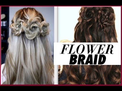 ★FLOWER BRAID HAIR TUTORIAL | HALF-UP PROM HAIRSTYLES
