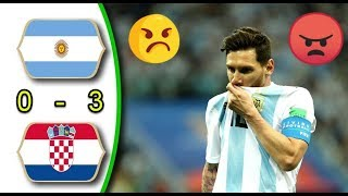 Argentina vs Croatia 0 - 3  FIFA World Cup 21/06/2018