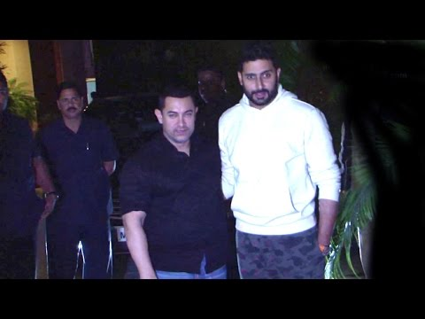 Aamir, Srk And Salman At Amitabh Bachchan's Bunglow 'jalsa' video