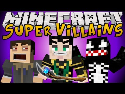 Minecraft Mods: SUPER VILLAINS MOD! - Venom, Loki & Scarecrow!