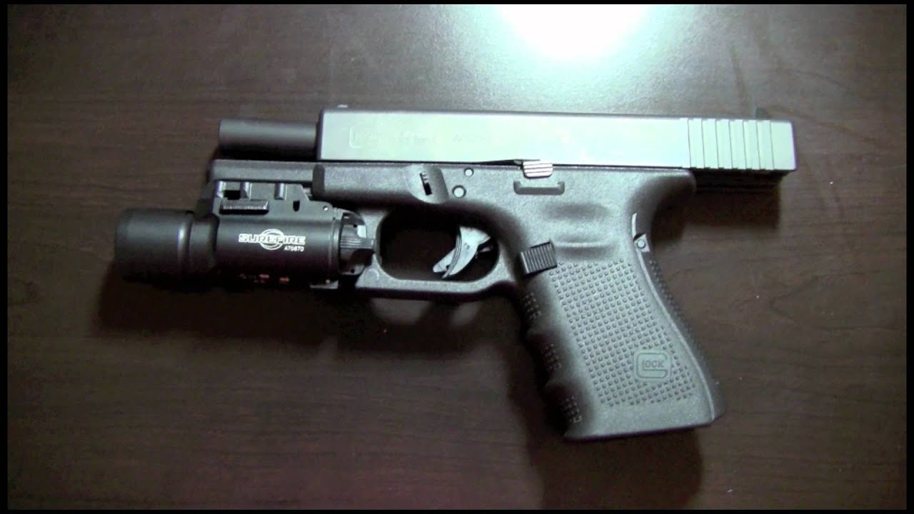 Surefire X300 for Glock 19 Gen 4 Initial Impression - YouTube
