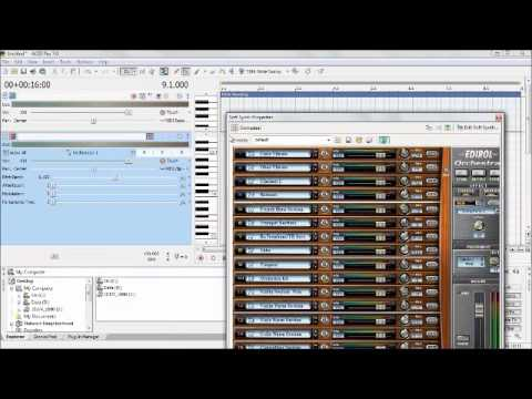 How to Sony Acid Pro 7.0 Midi Editing & Recording with Windows 7