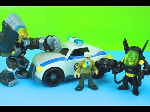Imaginext Batman with Jet Pack, Commissioner Gordon & Police Car, & Gorilla Grodd Fight Just4fun290